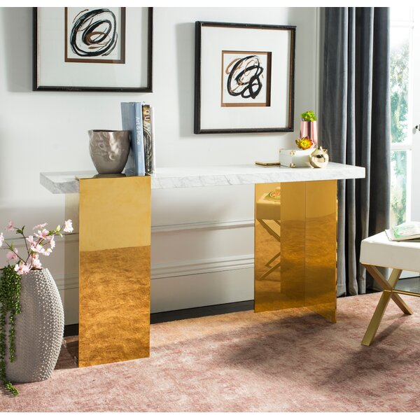 Kuhl Marble Console Table by Everly Quinn