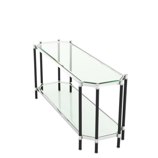 Home & Outdoor Florence Glass Top Console Table