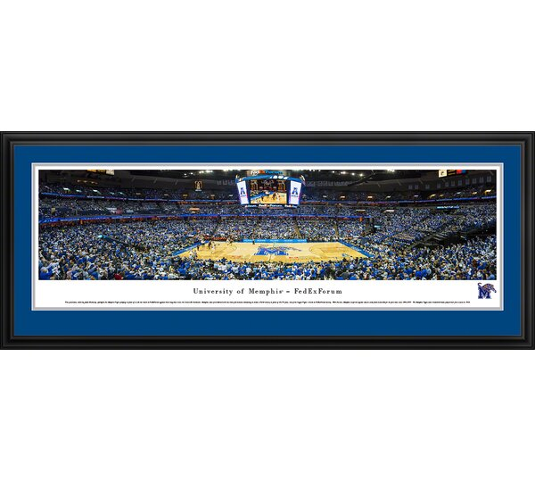 NCAA Memphis, University of - Fedexforum by James Blakeway Framed Photographic Print by Blakeway Worldwide Panoramas, Inc