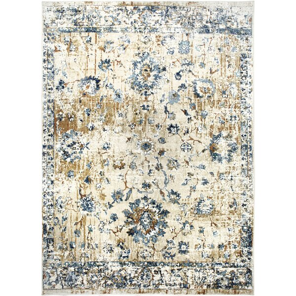 Heritage Cotton Gray/Blue Area Rug by Shabby Chic