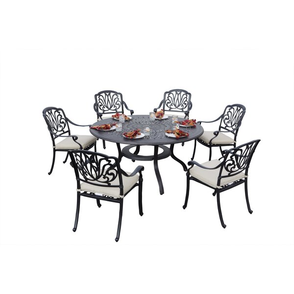 Keyes 7 Piece Dining Set with Cushions by Darby Home Co