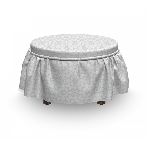 Soft Motif In Mutes Tones Ottoman Slipcover (Set Of 2) By East Urban Home