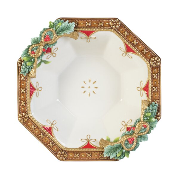 Yuletide Holiday Serving Bowl by Fitz and Floyd