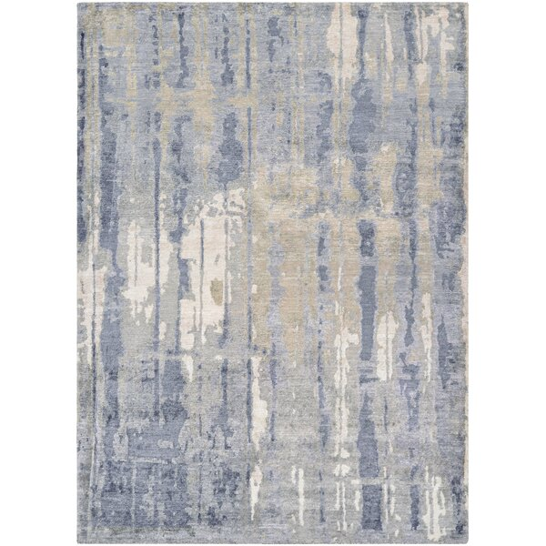 Durrant Hidden Forest Hand-Knotted Pearl/Slate Area Rug by Trent Austin Design