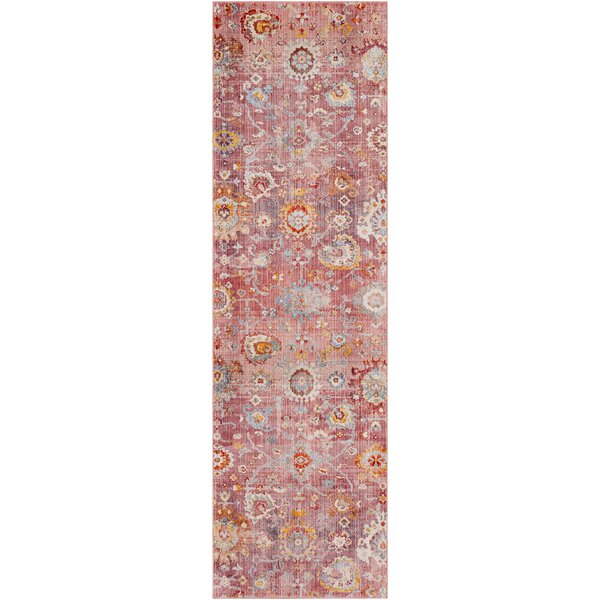 Elvis Distressed Pale Pink/Rose Area Rug by Charlton Home