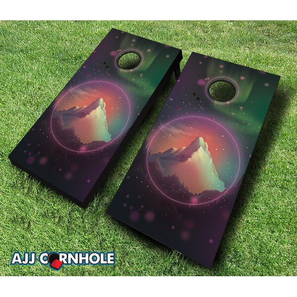 Peace Rock Cornhole Set by AJJ Cornhole