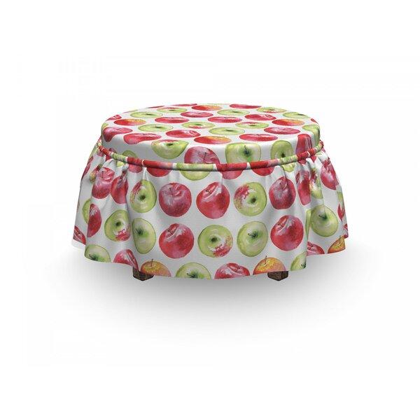 Apple Granny Smith 2 Piece Box Cushion Ottoman Slipcover Set By East Urban Home