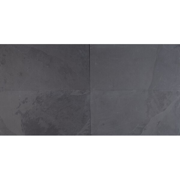 Montauk 12'' X 24'' Slate Field Tile in Black by MSI