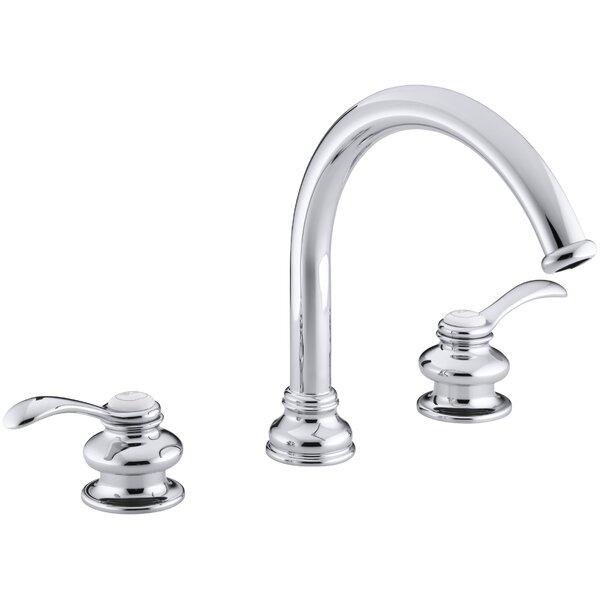 Fairfax Deck-Mount Bath Faucet Trim with Lever Handles and Traditional 8-7/8 Non-Diverter Slip-Fit Spout, Valve Not Included by Kohler
