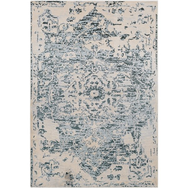 Synthia Traditional Dark Green Area Rug by Ophelia & Co.