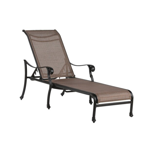 Germano Reclining Chaise Lounge with Cushion by Darby Home Co