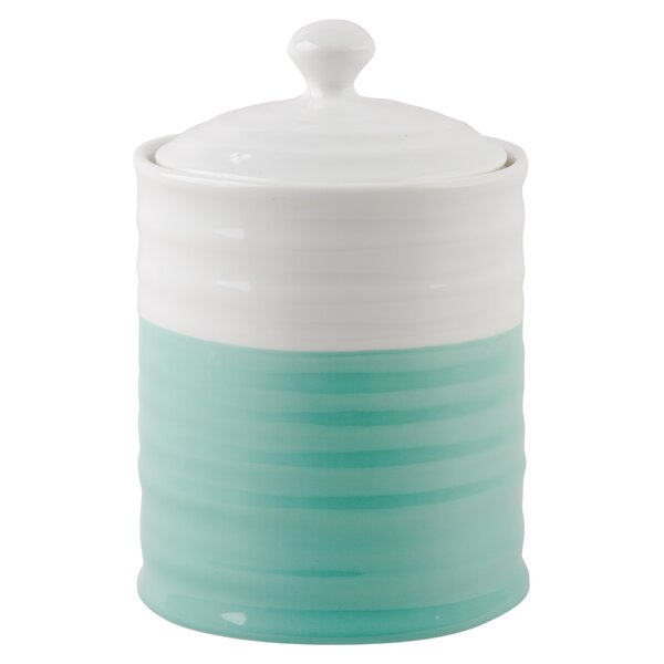 Two Tone Kitchen Canister by Highland Dunes