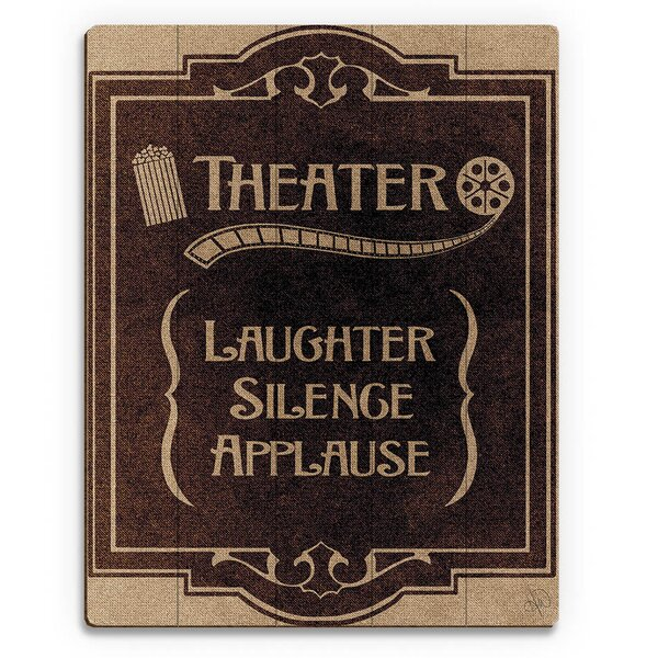 Theater Vintage Advertisement on Plaque by Click Wall Art
