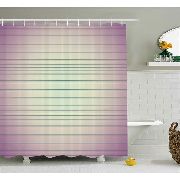 Baumbach Stripes Shower Curtain by Latitude Run