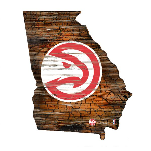 NBA Hawks Distressed State Wall Décor by Fan Creations