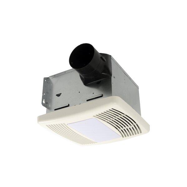 HushTone 80 CFM Energy Star Bathroom Fan With Light by Cyclone