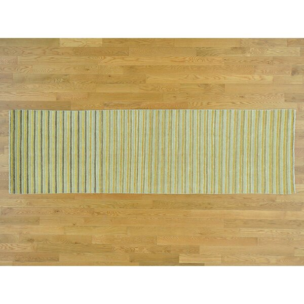 One-of-a-Kind Becker Striped Handwoven Wool Area Rug by Isabelline