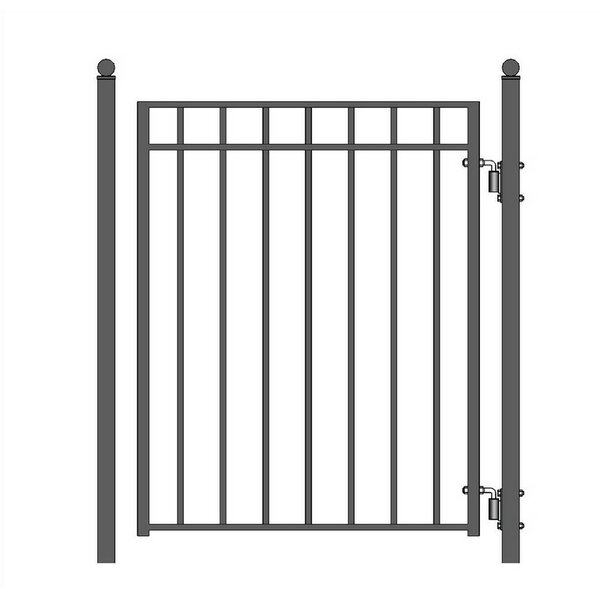 5 ft. H x 4.5 ft. W Madrid Steel Pedestrian Gate by ALEKO