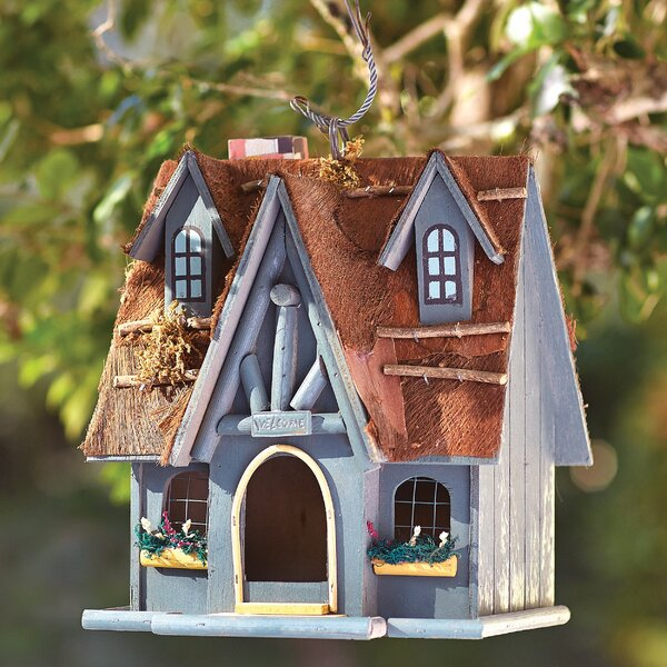Luetta Fairytale Cottage Hanging Birdhouse by One