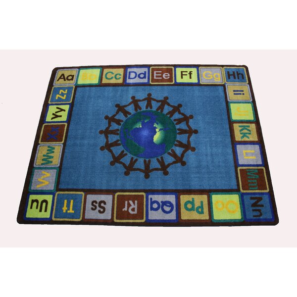 Earth Tone Alpha World Blue/Green Area Rug by Kids World Carpets