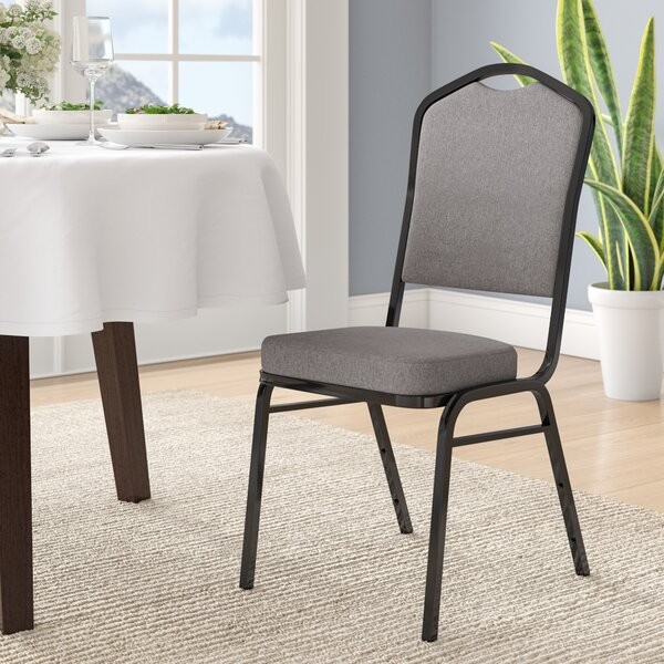 Laduke Crown Back Banquet Chair with Cushion by Symple Stuff