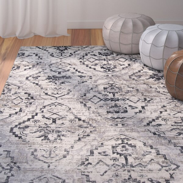 Ronin Ivory Area Rug by Bungalow Rose