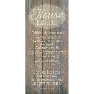 'House Blessing…' Textual Art Plaque by Winston Porter