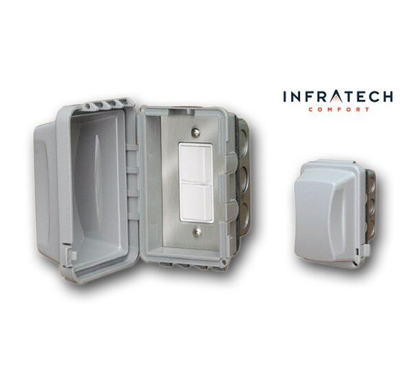 In-Wall Waterproof Duplex Switch by Infratech