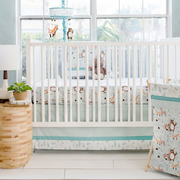 Forest Friends 3 Piece Crib Bedding Set by My Baby
