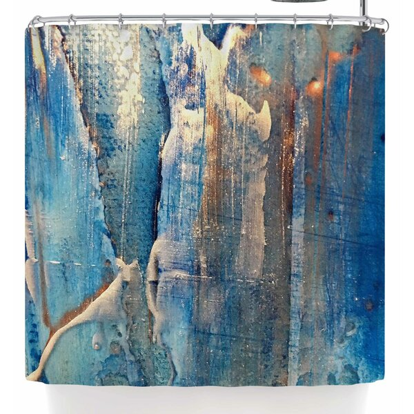Malia Shields The Blues 5 Shower Curtain by East Urban Home