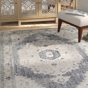 Best Reviews Lillo Gray/Ivory Area Rug By Bungalow Rose