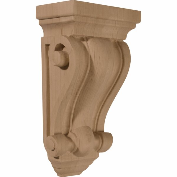 Cole 7 1/2H x 4W x 2 1/2D Pilaster Wood Corbel in Red Oak by Ekena Millwork