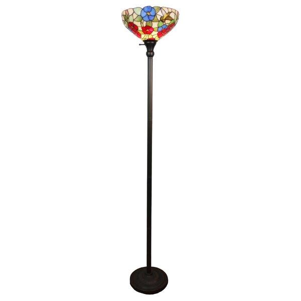Hummingbirds 14 Torchiere Floor Lamp by Amora Lighting