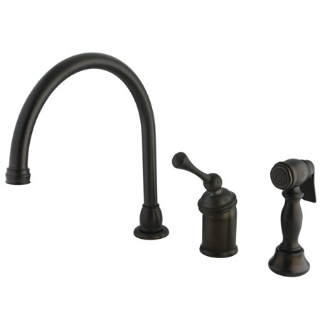 Buckingham Single Handle Kitchen Faucet With Side Spray By Kingston Brass