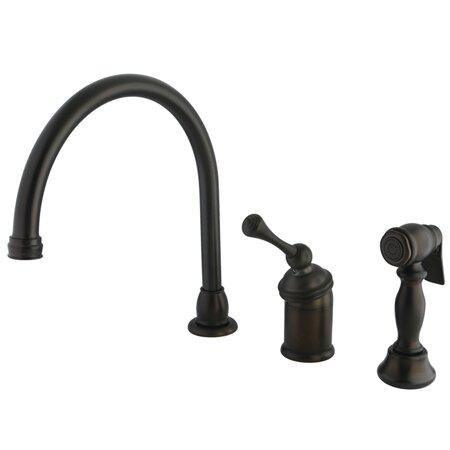 Buckingham Single Handle Kitchen Faucet with Side Spray by Kingston Brass Kingston Brass