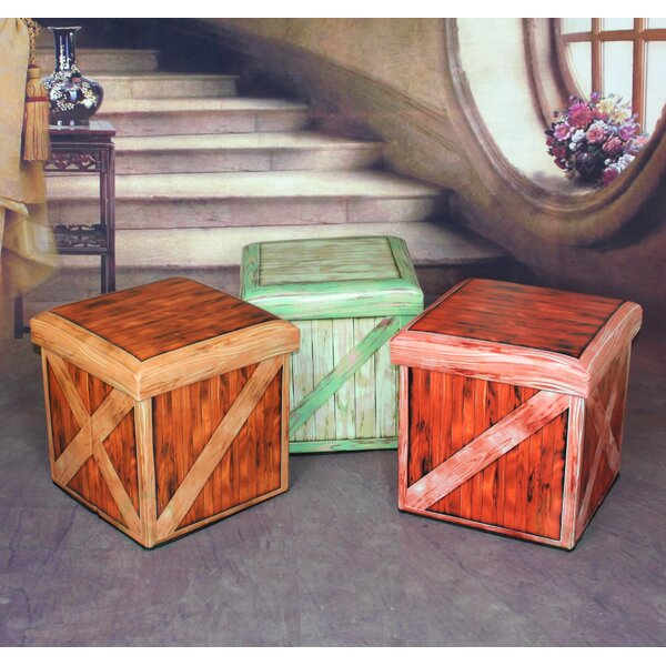 Vintique Storage Ottoman by Quickway Imports