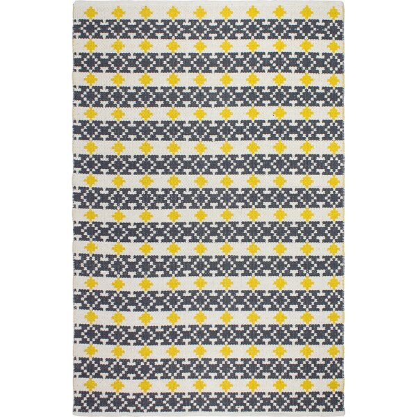 Estate Hand-Woven Yellow/Gray Area Rug by Fab Habitat