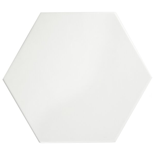 Hexitile 7 x 8 Ceramic Field Tile in Glossy White by EliteTile