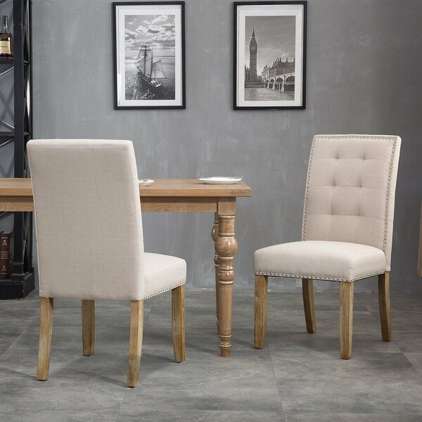 Una Upholstered Dining Chairs (Set of 2) by Gracie Oaks