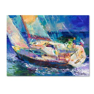 'Sailboat' Print on Wrapped Canvas by Trademark Fine Art