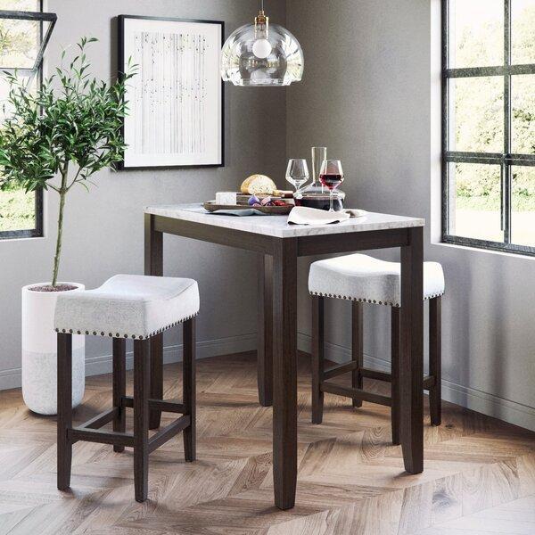 Borders 3 Piece Pub Table Set by Charlton Home
