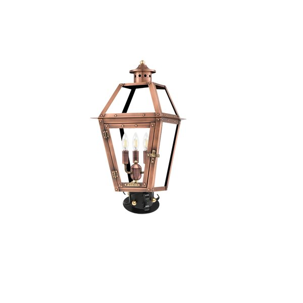Orleans Aged Copper 27 H Hardwired Lantern Head by Primo Lanterns