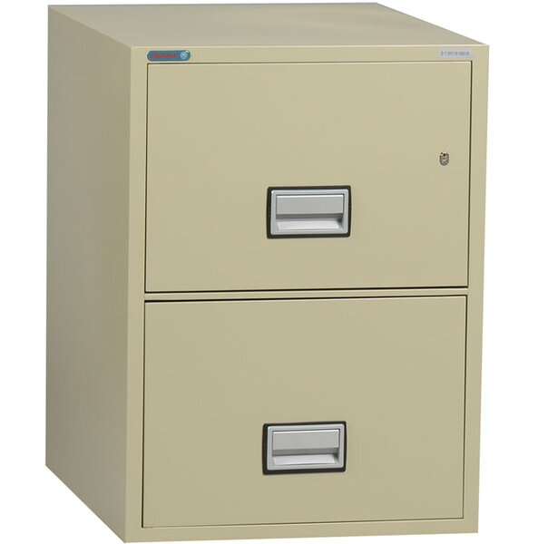 2-Drawer Vertical Filing Cabinet by Phoenix Safe International2-Drawer Vertical Filing Cabinet by Phoenix Safe International