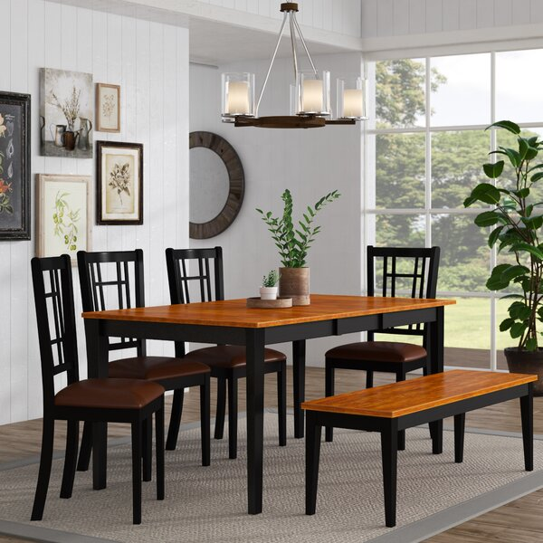 Pillar Traditional 6 Piece Dining Set by August Grove
