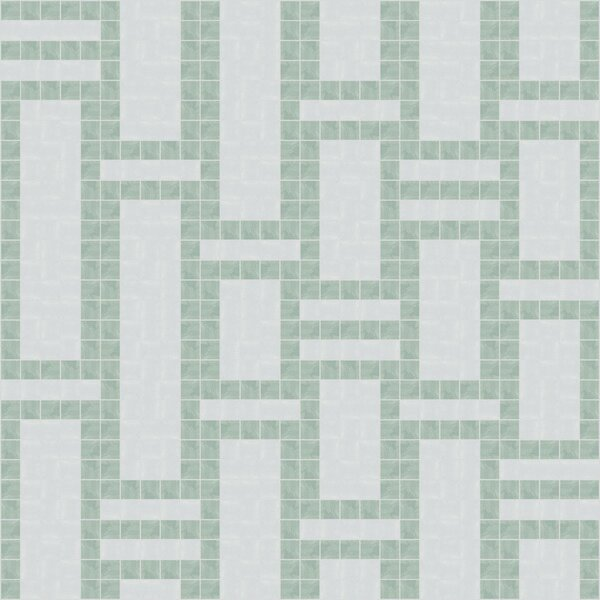 Urban Essentials Modern Bamboo 3/4 x 3/4 Glass Glossy Mosaic in Placid Turquoise by Mosaic Loft