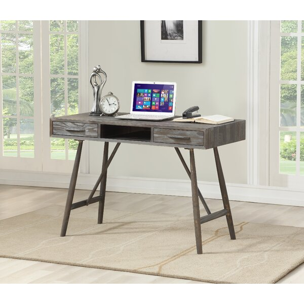 Timko 2 Drawer Writing Desk by Union Rustic