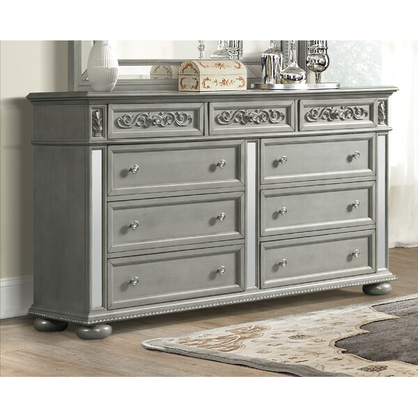 Aaden 9 Drawer Double Dresser by Rosdorf Park