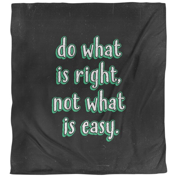 Do What Is Right Quote Single Duvet Cover