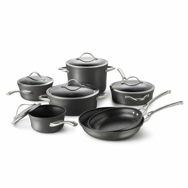 Contemporary Nonstick 12 Piece Cookware Set by Cal