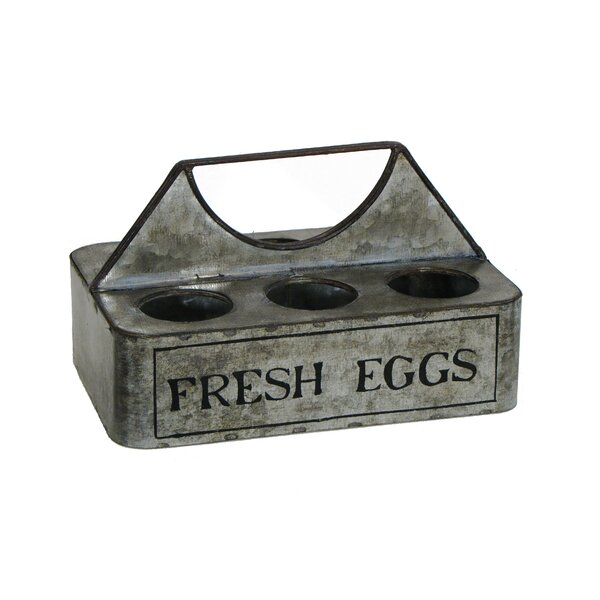 Country Farmhouse 6-Pack Egg Caddy by Wilco Home